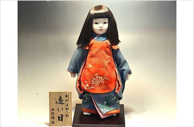 創作市松人形 田辺絹絵 遠い日 日本人形