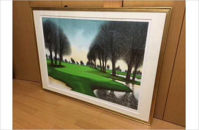 ジャック・デペルト リトグラフ ゴルフ場 風景画