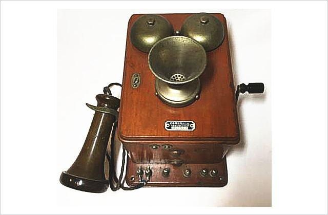 日本電信電話公社 古い壁掛電話 昭和29年 アンティーク レトロ