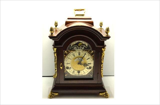 【ドイツ製アンティーク置時計】Mautheマウテ社 月齢表付き チャイム