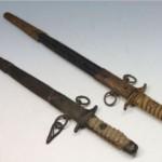 旧日本海軍短剣2本